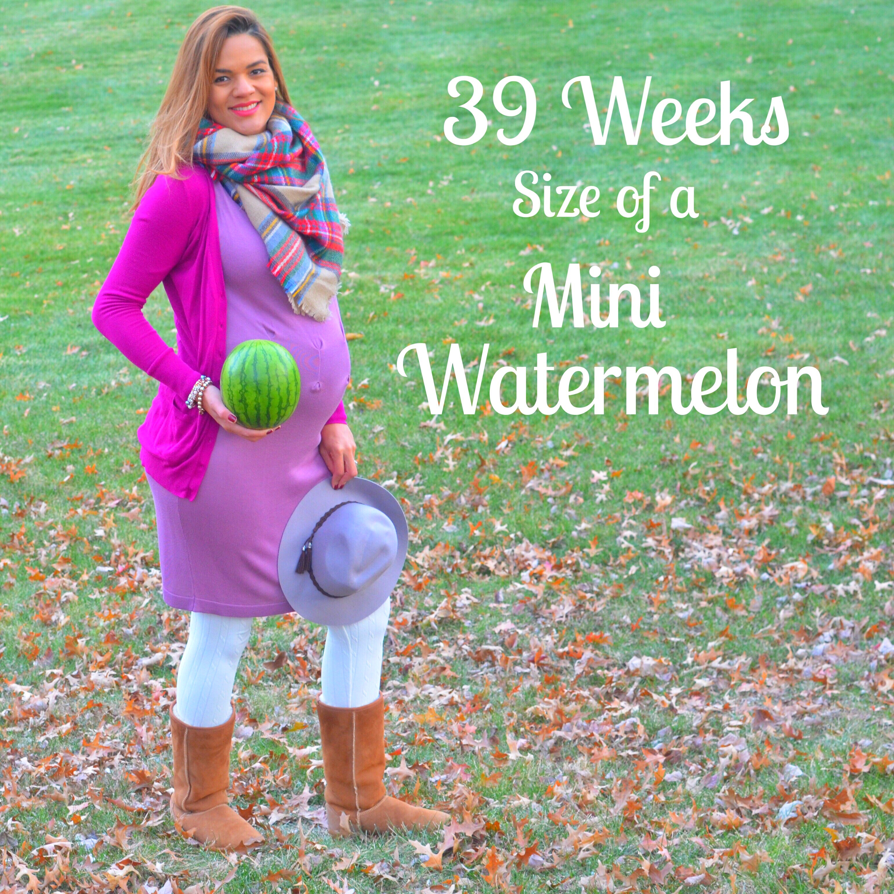 39 weeks  size of a mini watermellon  colorful foodie