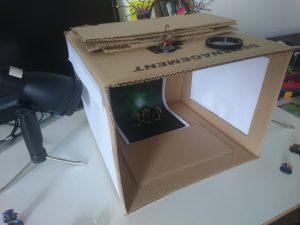 Une lightbox de fortune, mais très pratique et efficace !