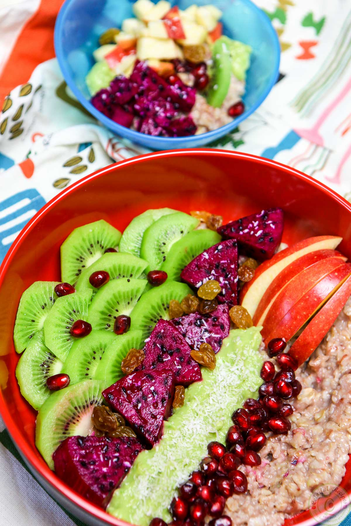 Unusual Fruit Bowls Exotic Fruit Oatmeal Bowl Colorful Recipes