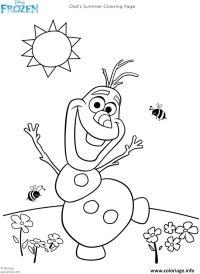 Coloriage Reine Des Neiges Anna Elsa Et Olaf.Coloriage Olaf De Frozen Te Fait Un Salut Dessin