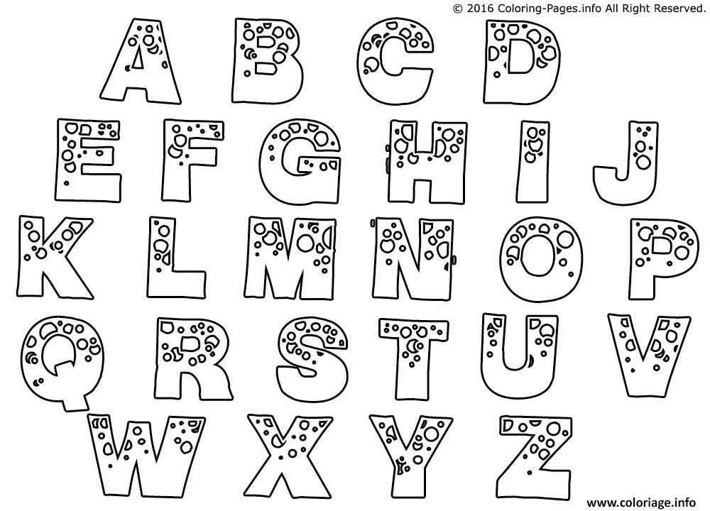 Coloriage Alphabet Complet A Imprimer Dessin