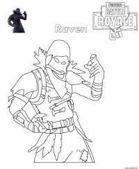 coloriage fortnite raven - fortnite skin coloriage