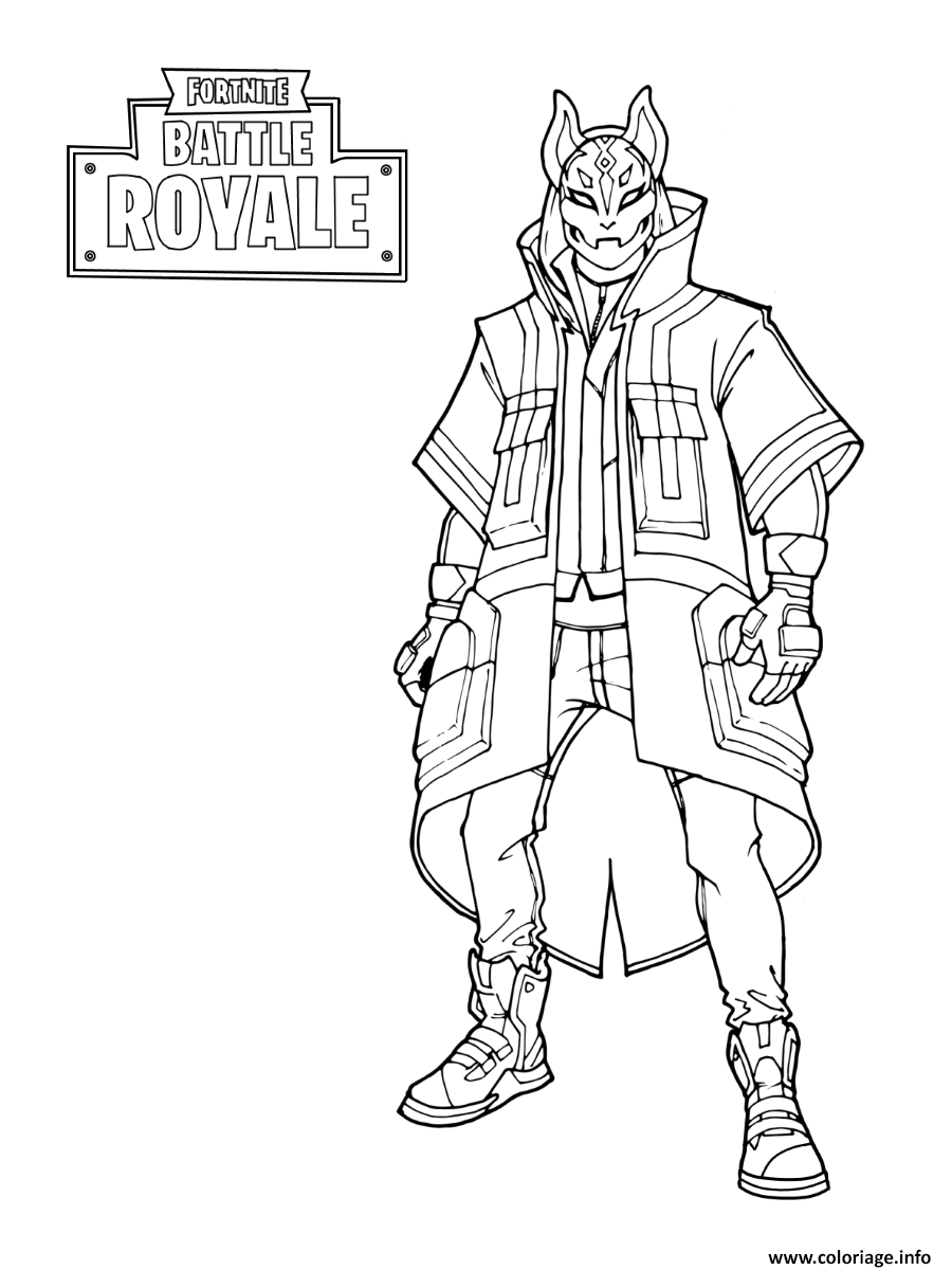 Dessin Gratuit Coloriage Fortnite Drift Stage 3 Dessin
