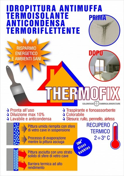 Pittura Antimuffa Anticondensa Thermofix Paint Colorificio Fai