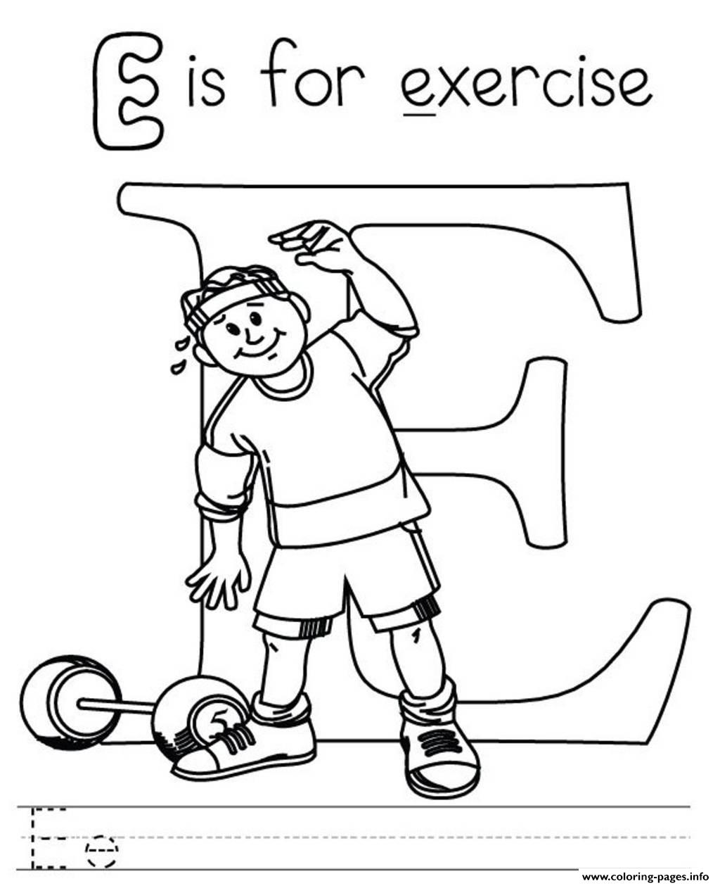 Exercise alphabet s free0136 coloring pages