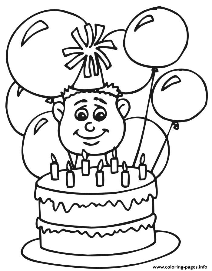 Boys Happy Birthday Balloons S0bff Coloring Pages Printable