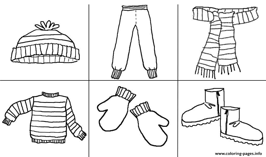 A Must Stuff Winter Clothes S42a2 Coloring Pages Printable