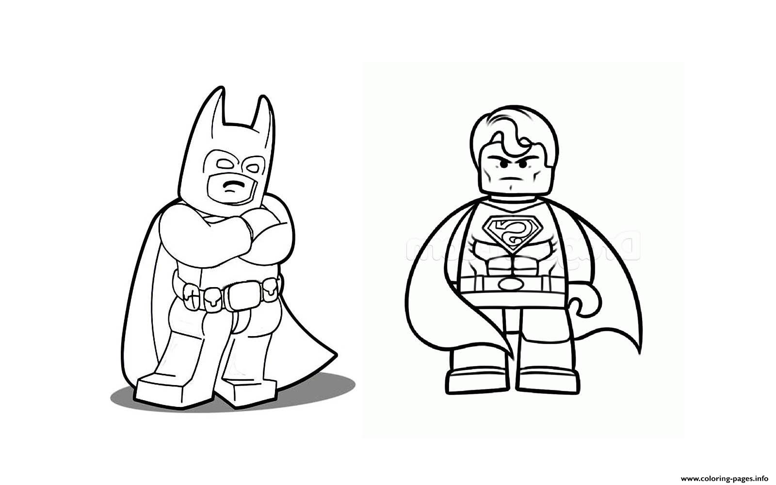 Superman Lego Coloring Pages - Democraciaejustica