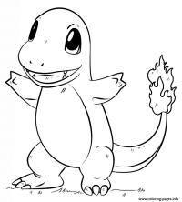 Charmander Pokemon Go Coloring Pages Printable