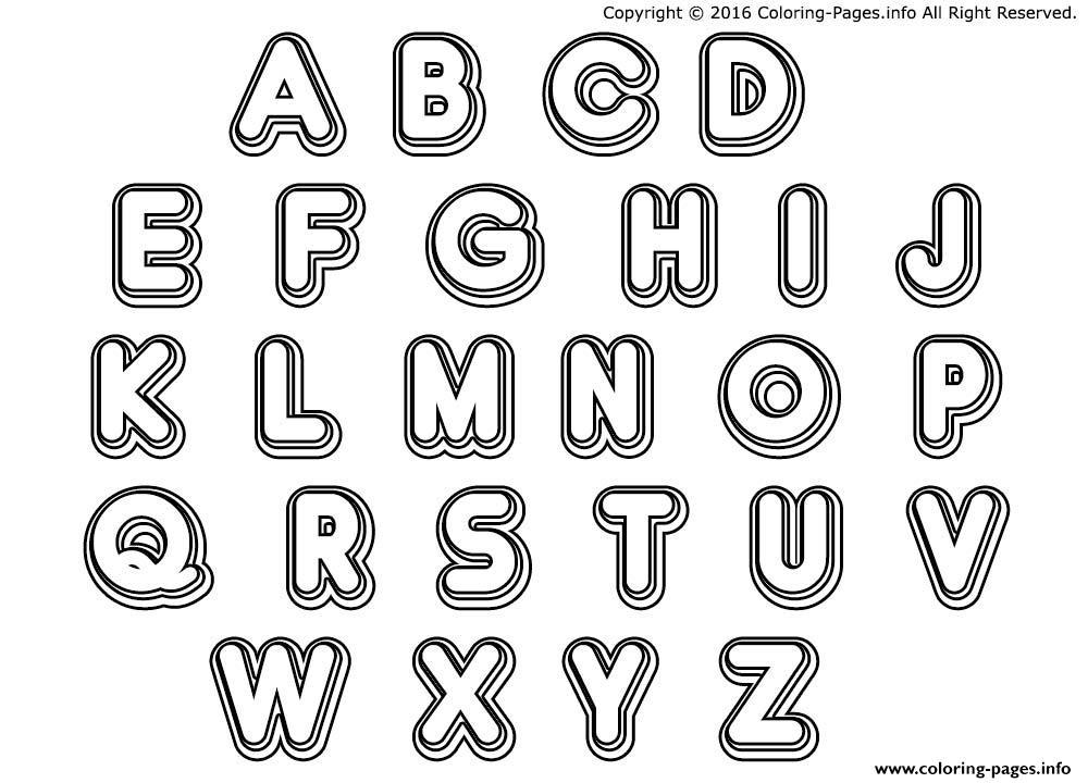 Double Bubble Letters Coloring Pages Printable