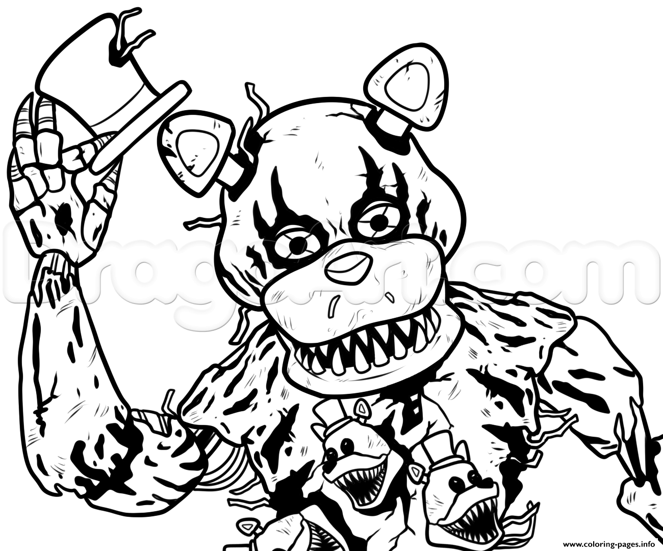 freddy fazbear coloring page - freddy fazbear coloring sheets coloring pages