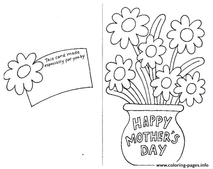 Happy Mothers Day Card By Coloring Pages Printable - online printable mothers day cards