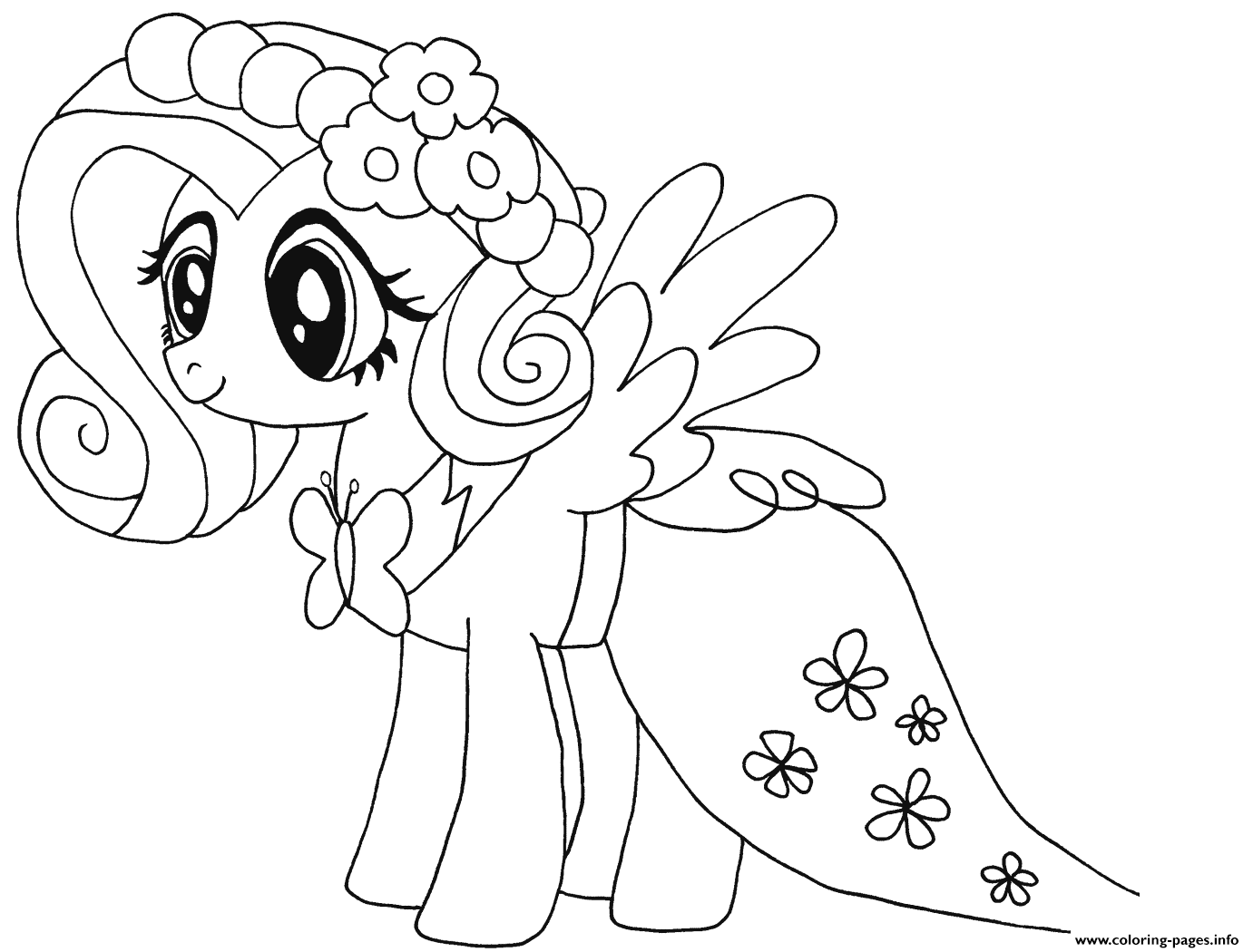 My Little Pony Fluttershy Ausmalbilder : My Little Pony Coloring Pages Pdf Costumepartyrun