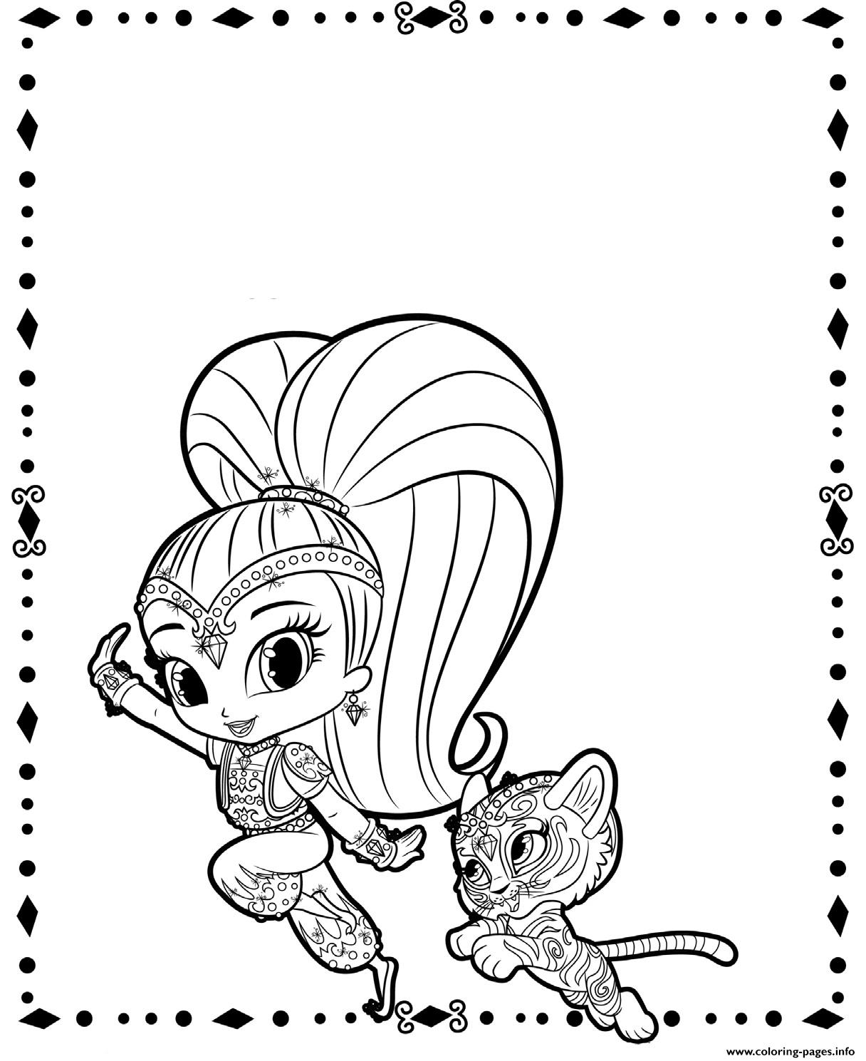 printable coloring pages shimmer and shine