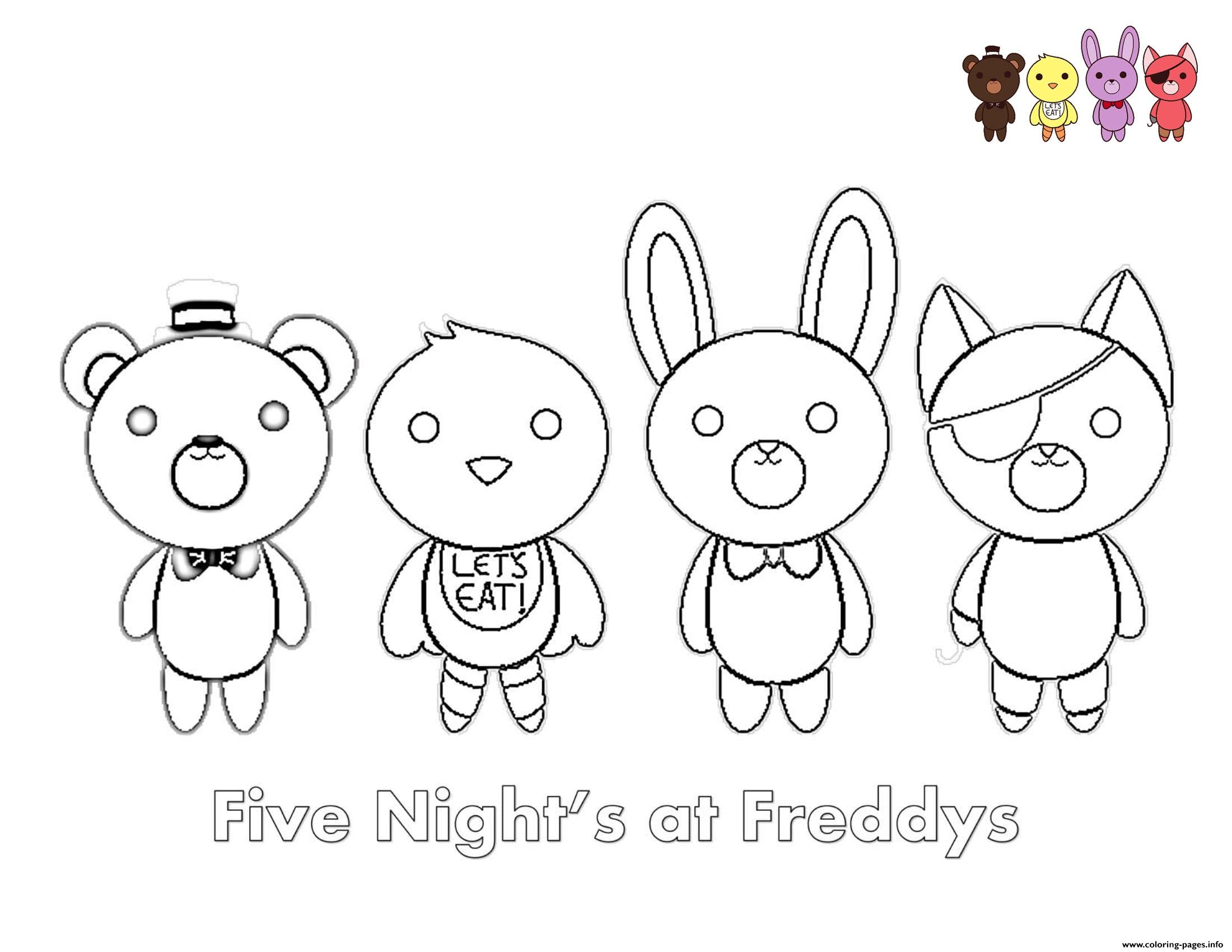 fnaf freddy five nights at freddys foxy coloring pages