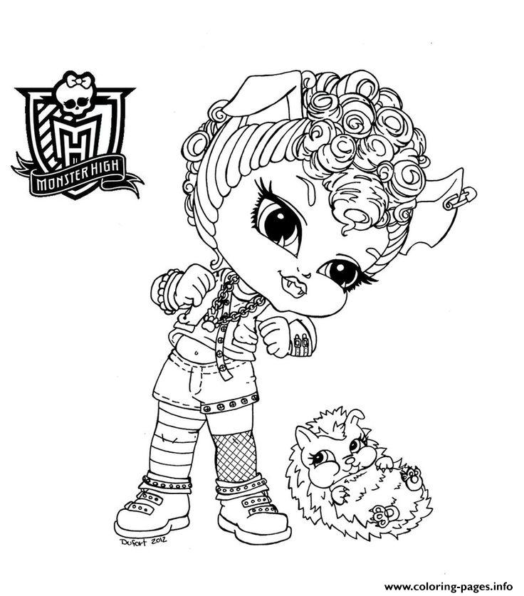 Monster High Chibi Coloring Pages Printable