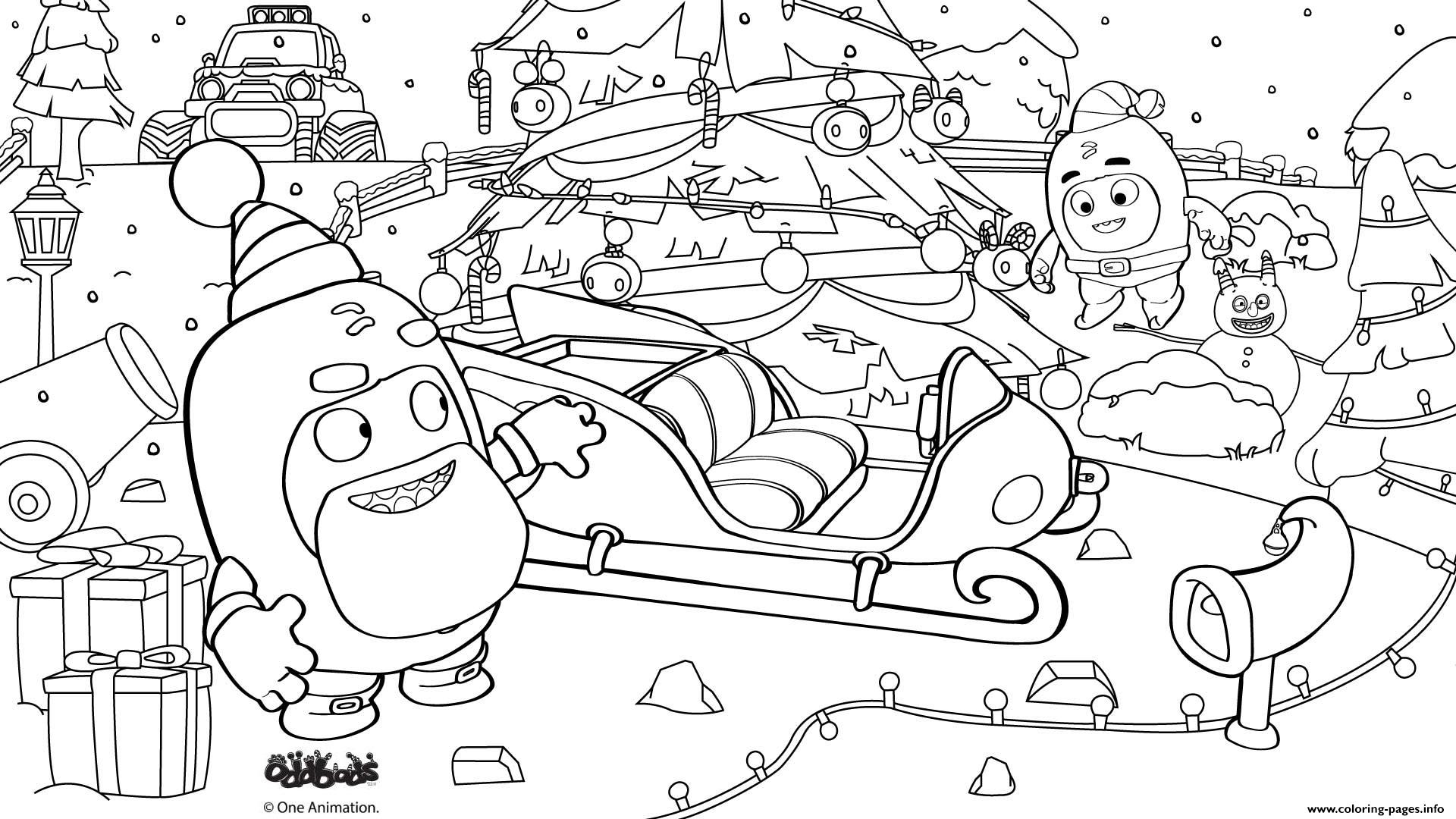 oddbods colouring pages
