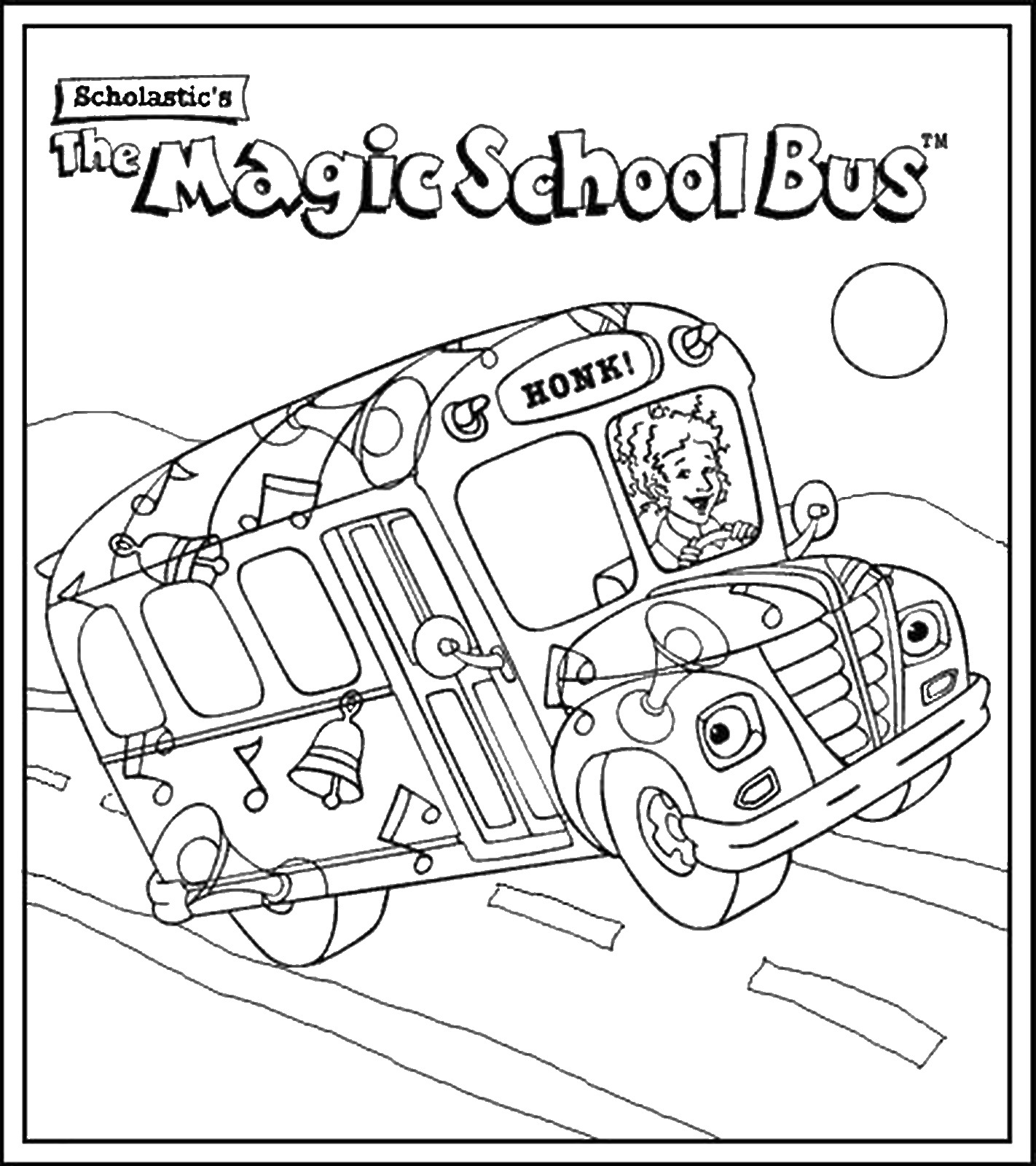 13 the magic school bus pictures to print and color