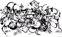 Skull Graffiti Pages Coloring Pages