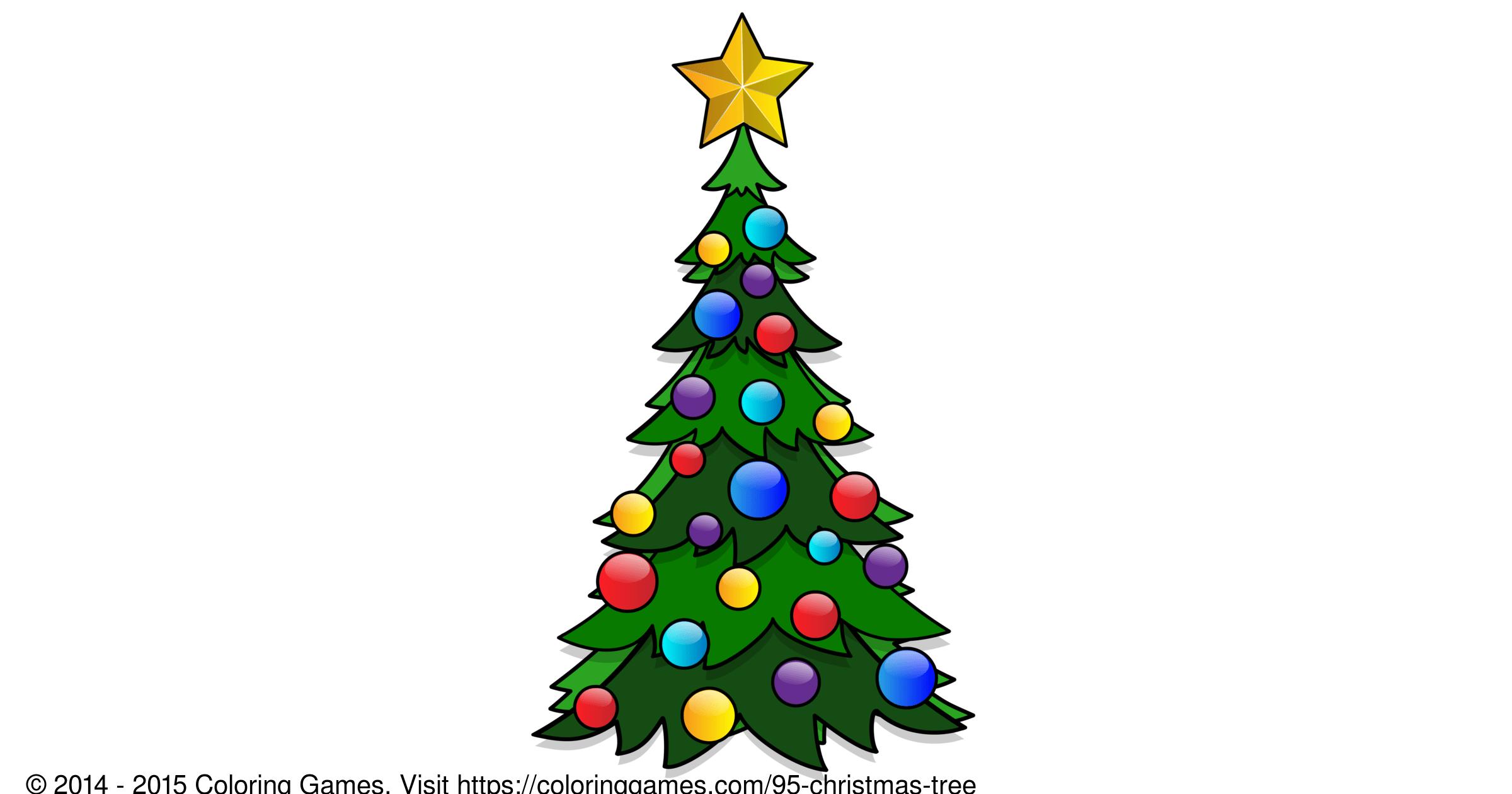 Xmas Tree Coloring Pages - Car-essay