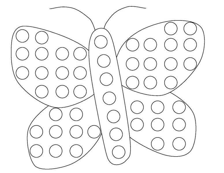Butterfly Do A Dot Coloring Page « Funnycrafts - Coloring Home