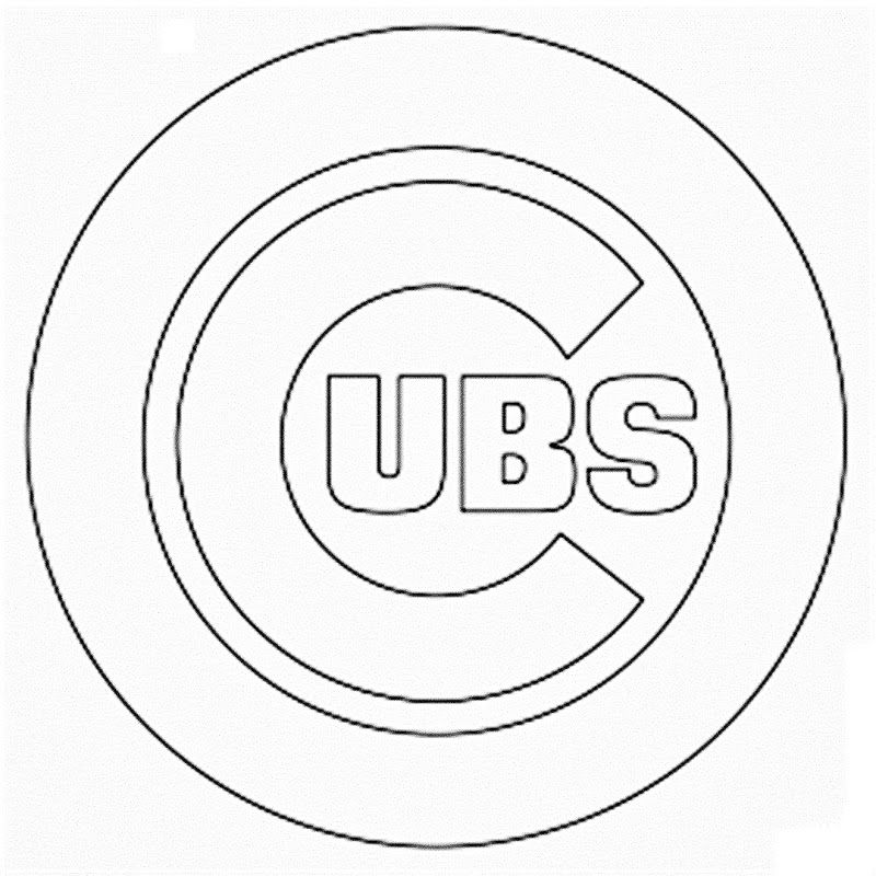 photo relating to Printable Chicago Cubs Logo called Ideal Chicago Cubs Symbol Coloring Internet pages Mascot Avid gamers