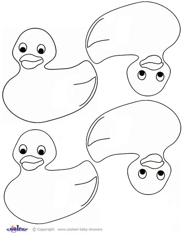 Printable Duck - Coloring Home