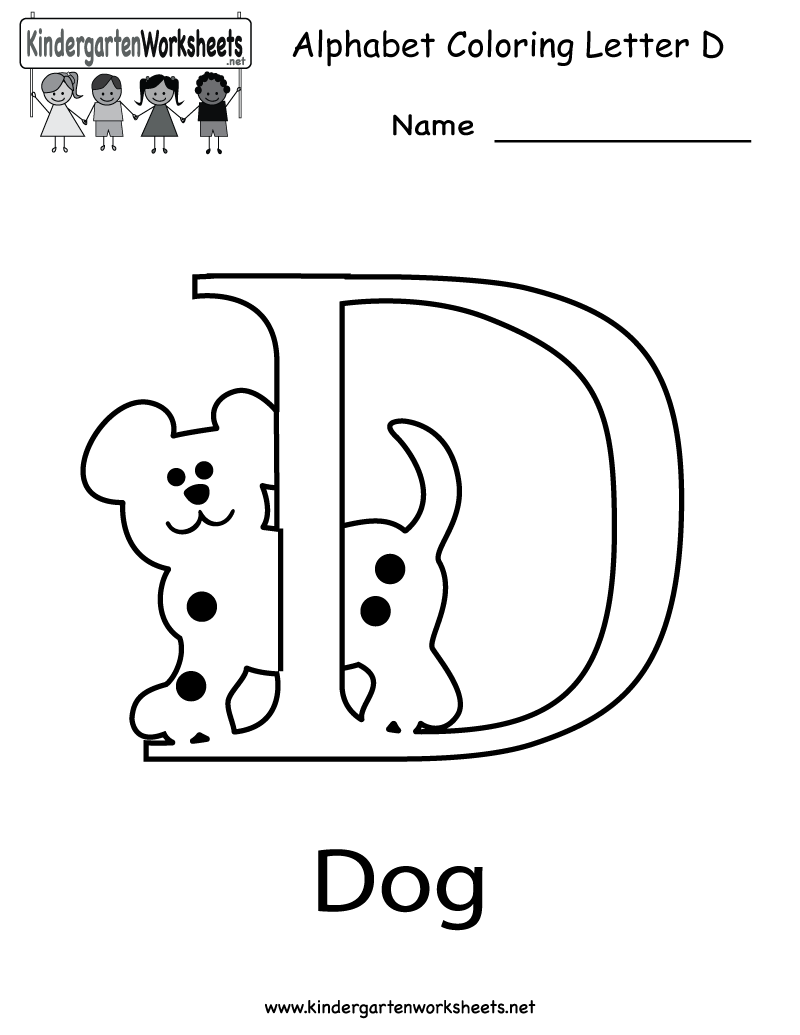 Letter c coloring pages for toddlers - Letter D Coloring Pages For Toddlers