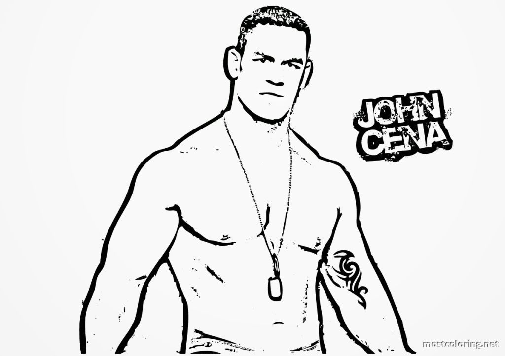 Wwe Coloring Pages John Cena Coloring Pages Printable - Coloring Home - new coloring pages of wwe john cena