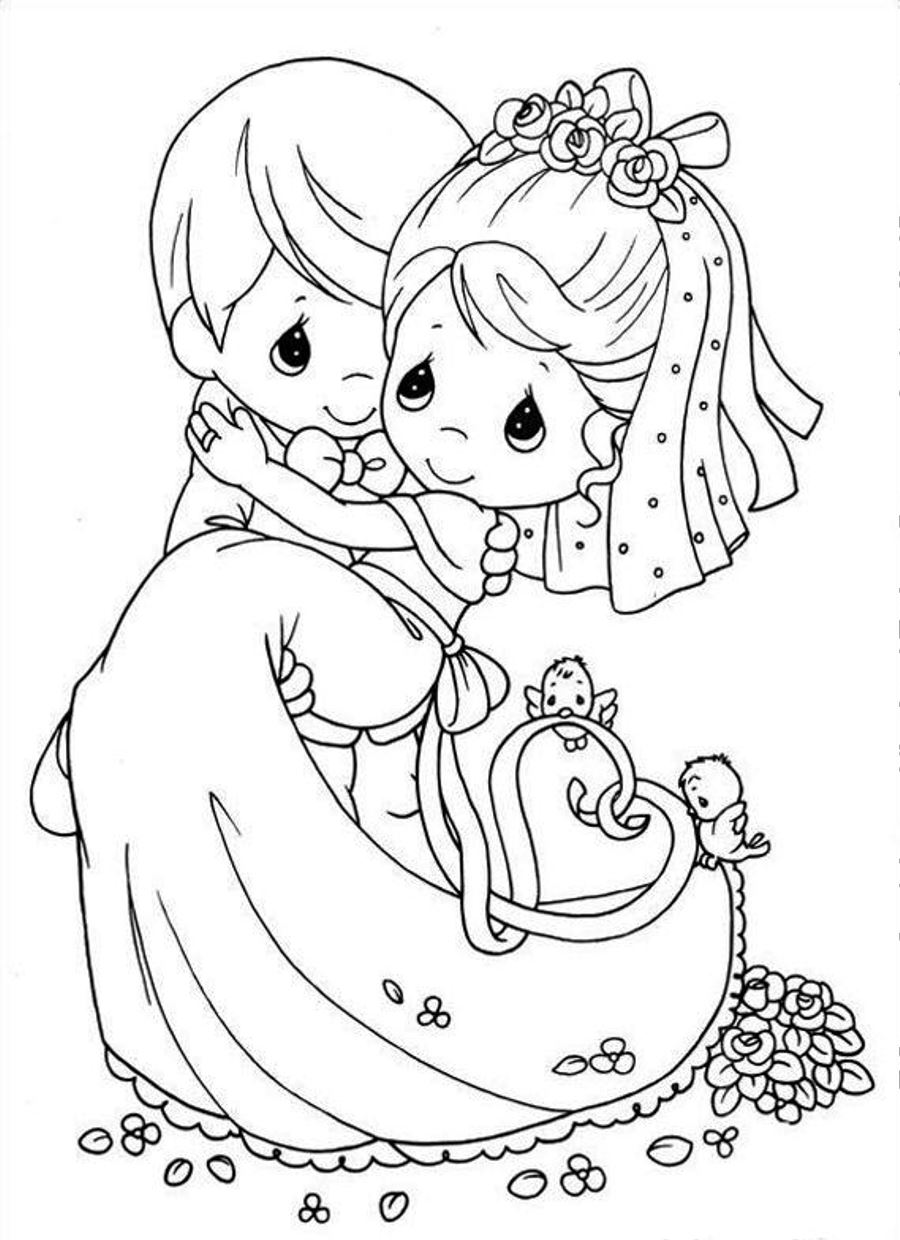 Wedding coloring book pages coloring pages for kids and for adults