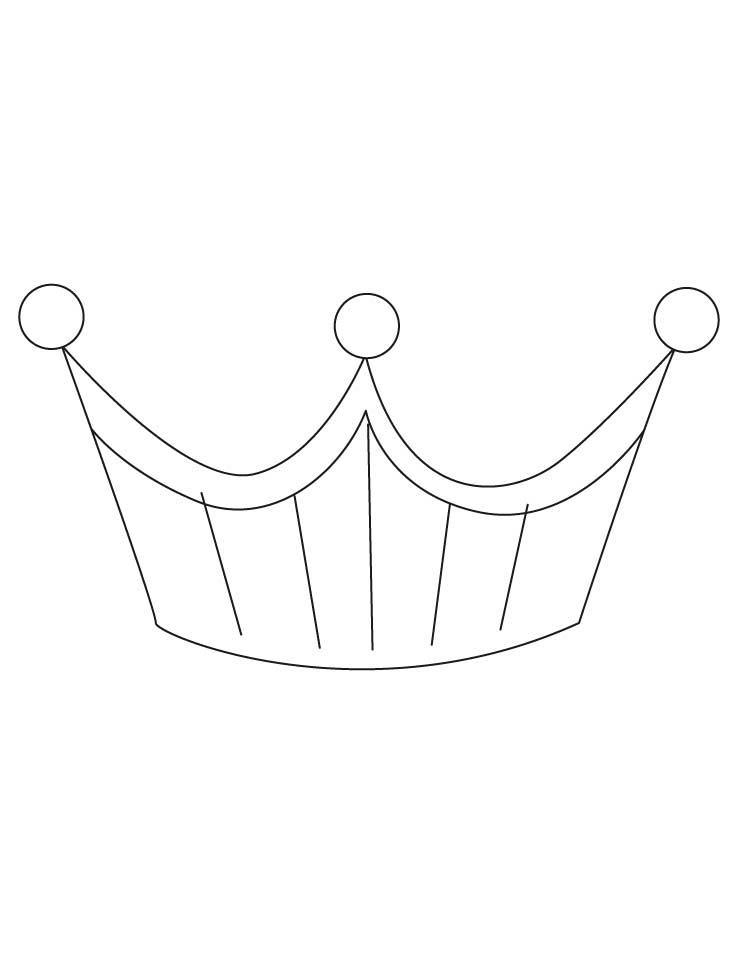 Free Printable Princess Crown Coloring Pages - High Quality