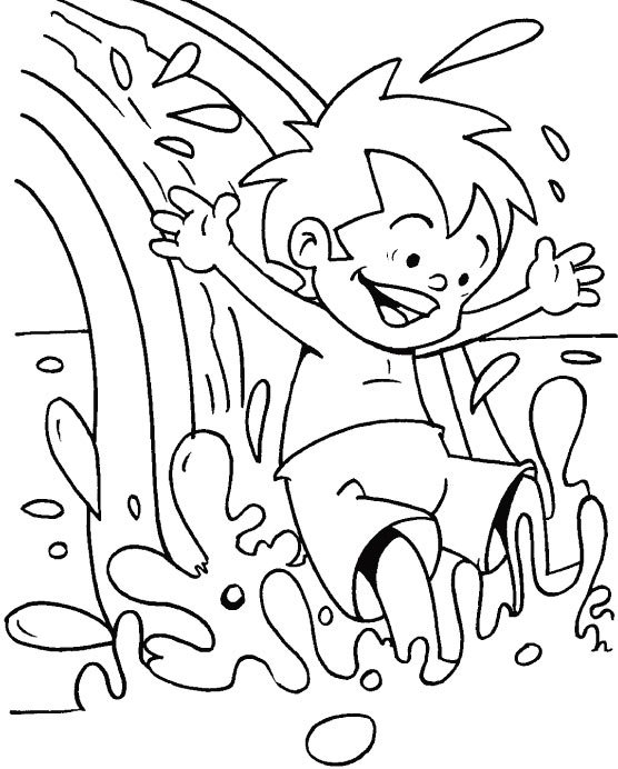 waterslide coloring pages