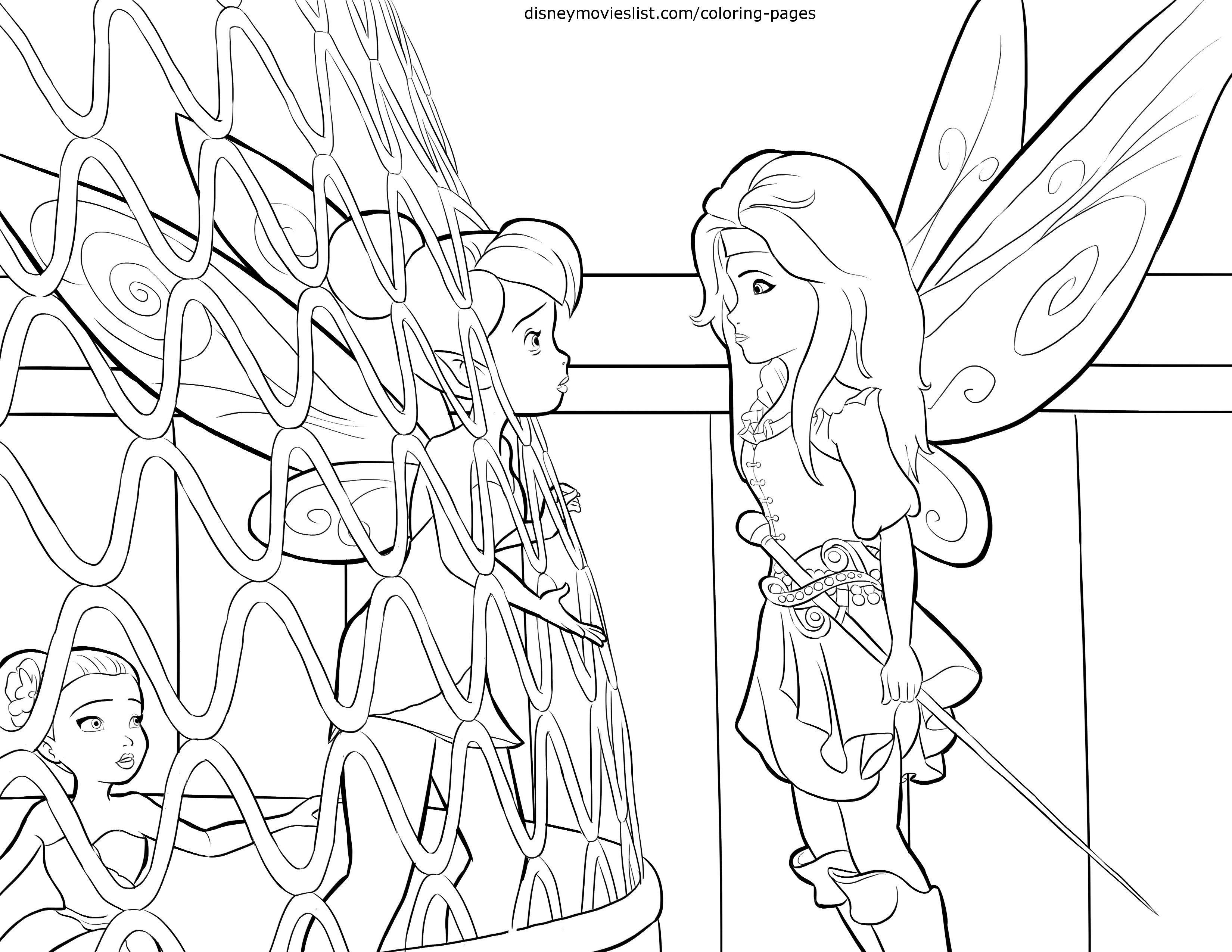 Disney Pirate Fairy Coloring Pages
