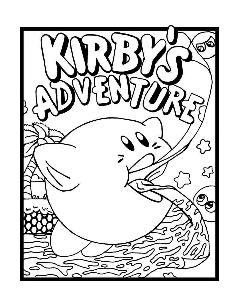 Printable kirby coloring pages for kids cool2bkids - Coloring Pages Nintendo
