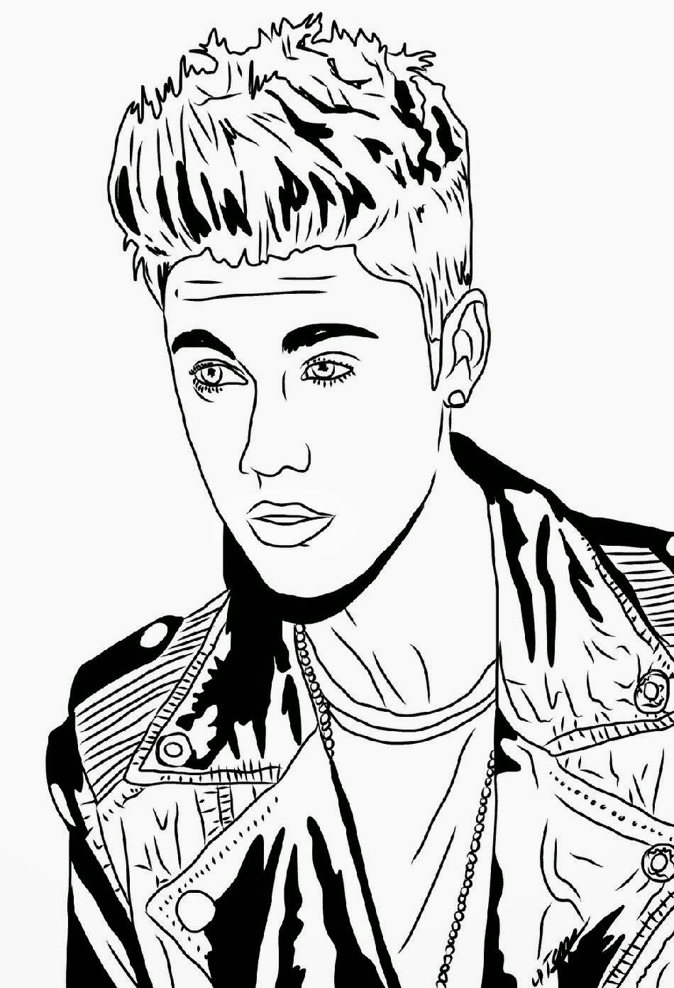 Justin bieber coloring sheets free coloring page