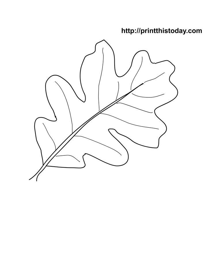 Oak Leaf Stencil Printable - Coloring Home