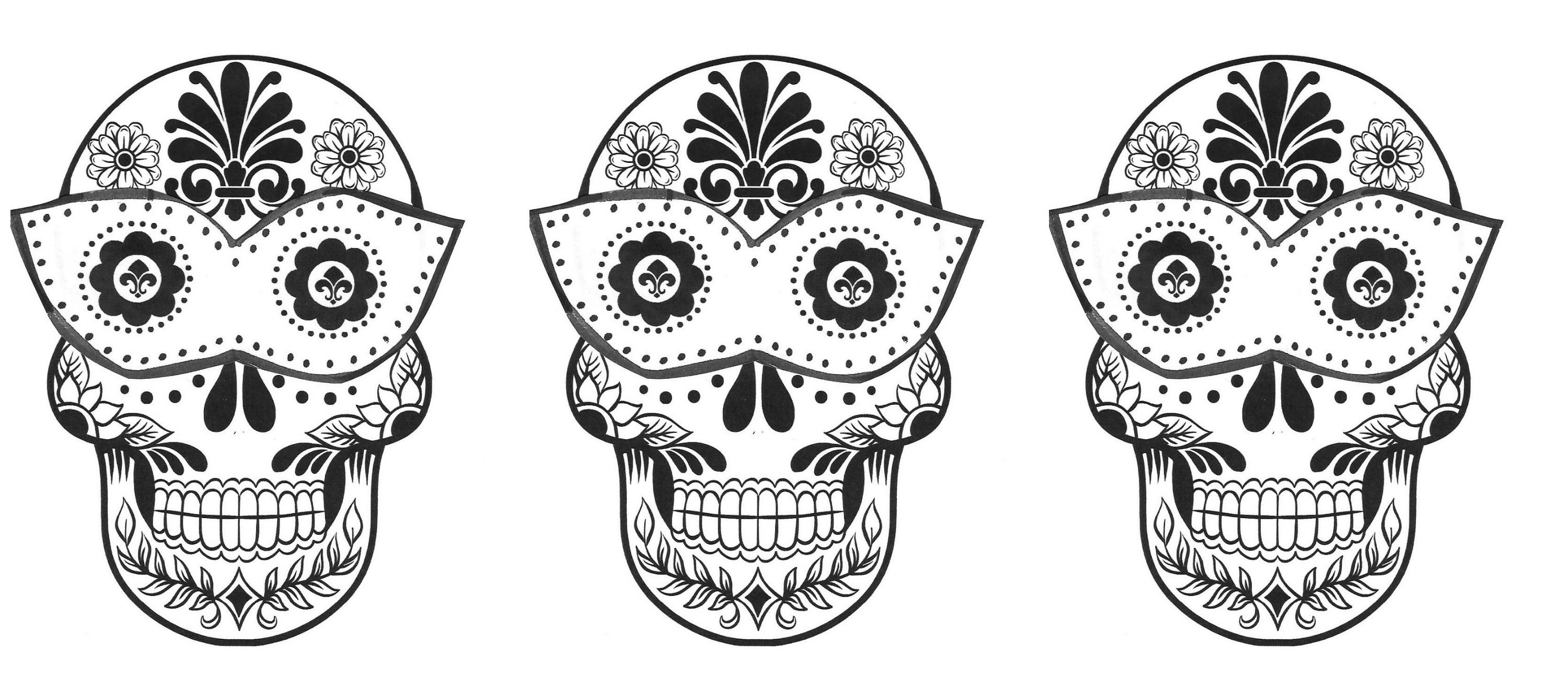 Easy Sugar Skull Coloring Pages Coloring Home