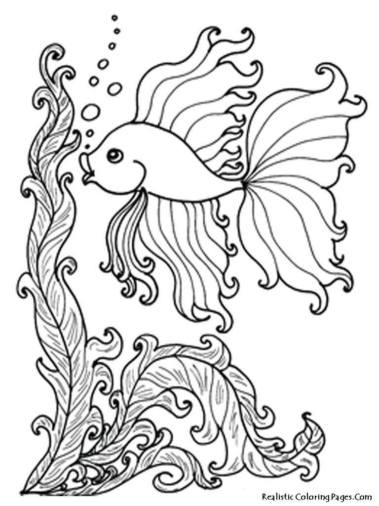 Underwater world coloring pages for kids print and color the pictures -  Printable Underwater Coloring Download