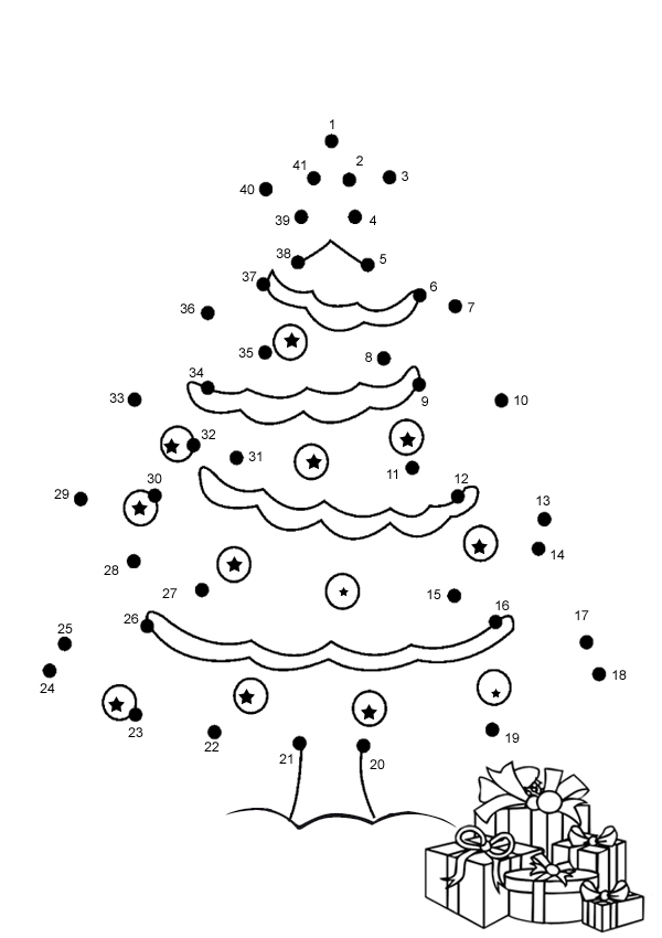 7 Pics Of Christmas Coloring Pages Connect The Dots Christmas