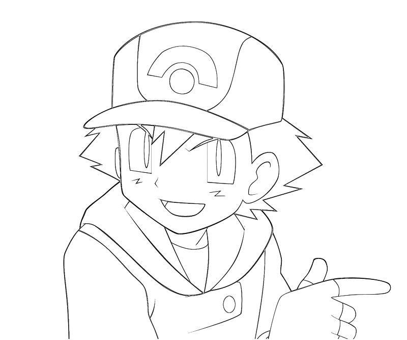 7 Pics Of Ash Pokemon BW Coloring Pages - Pokemon Ash Ketchum
