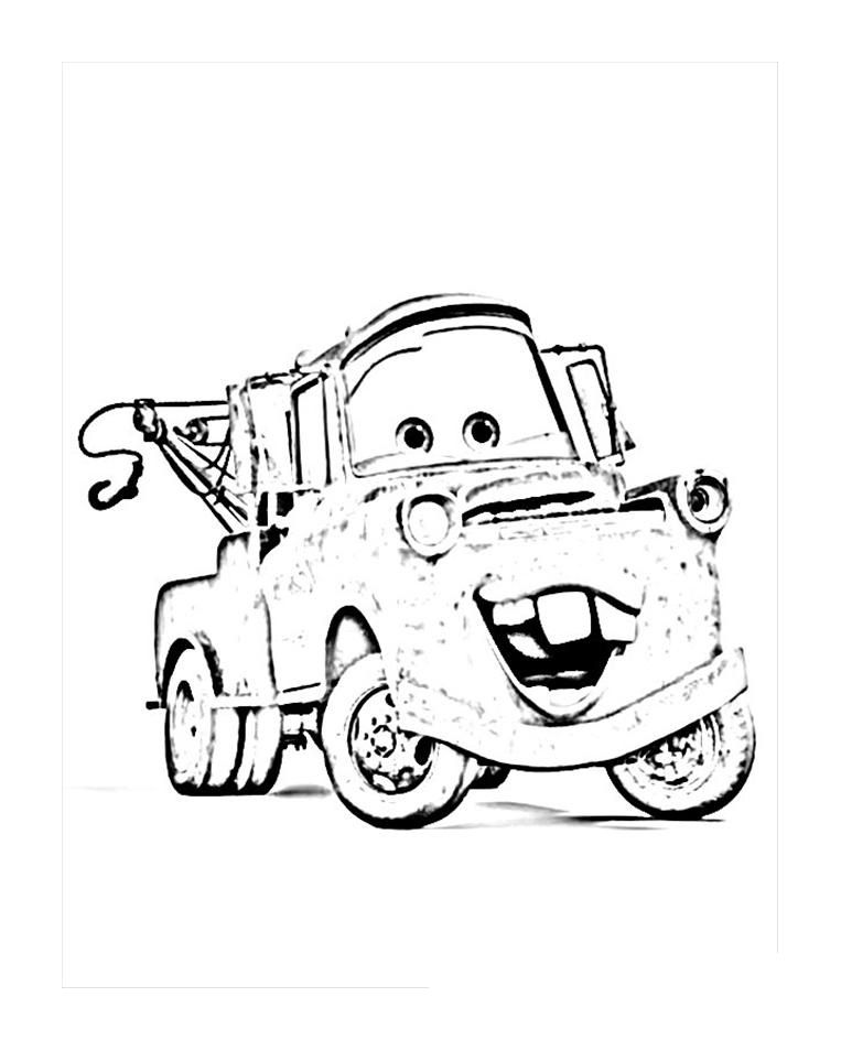 Tow Mater Coloring Pages Free - Coloring Home