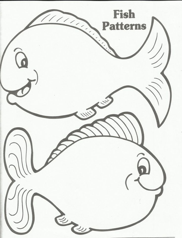 Printable Fish Template Fish Template Go F I S H Pinter
