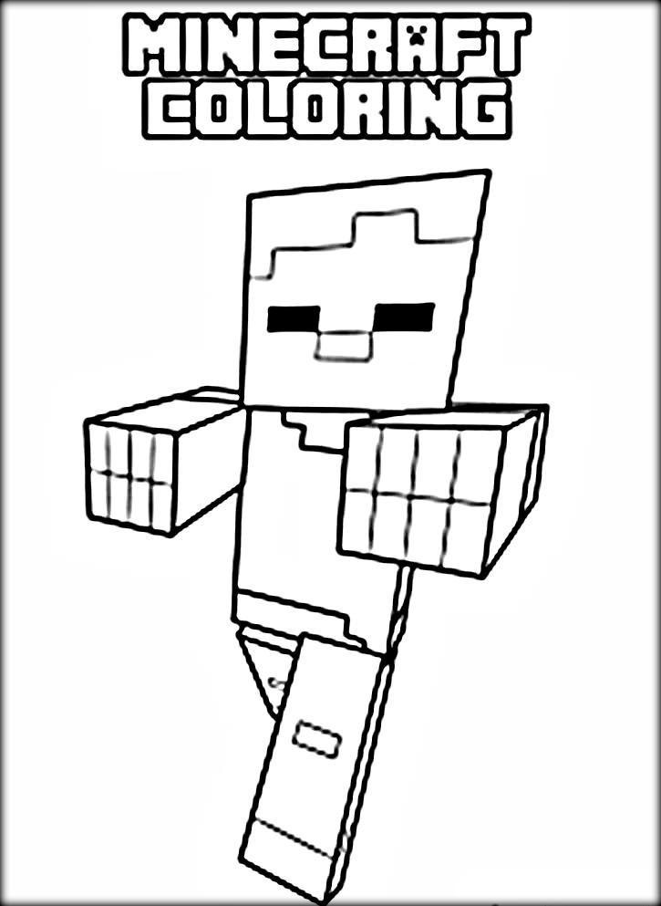 Cool Minecraft Coloring Pages Steve - Coloring Home