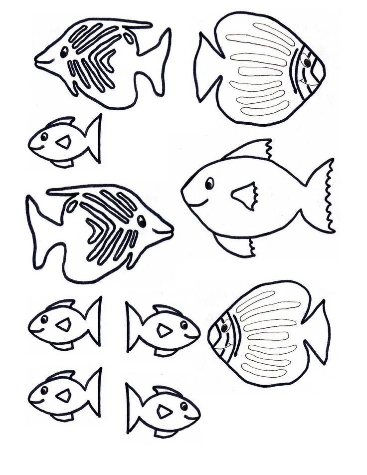 Fish Template Free Craft - Fish Pattern - Coloring Home