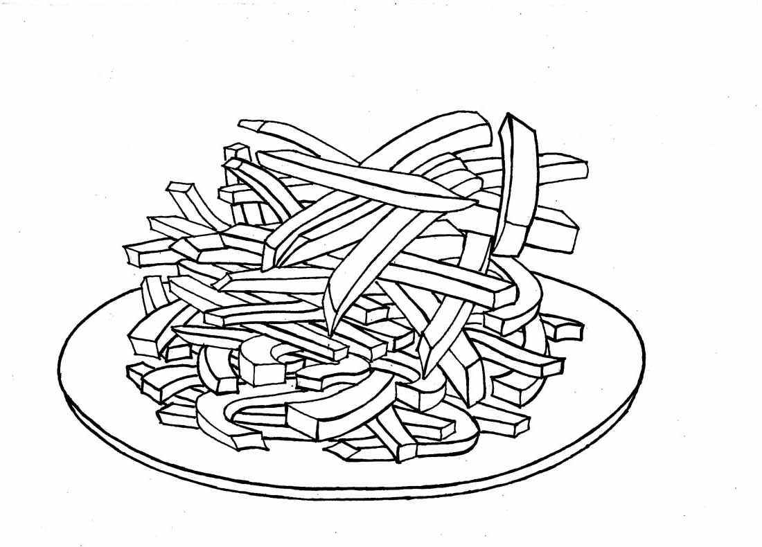 French Fries Coloring Page - Democraciaejustica