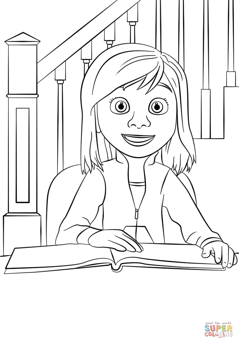 Riley inside out coloring pages