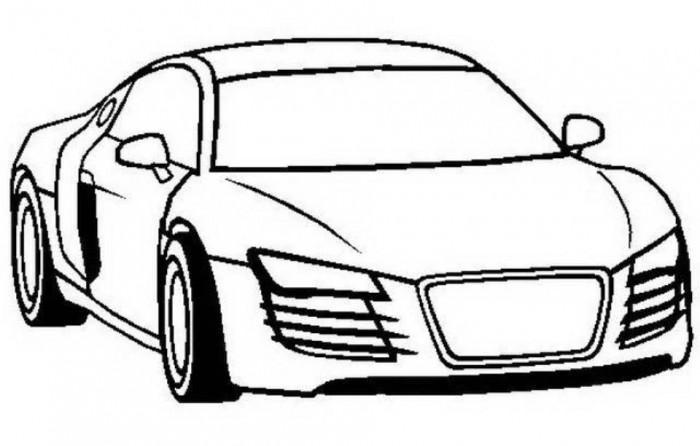 audi car coloring page