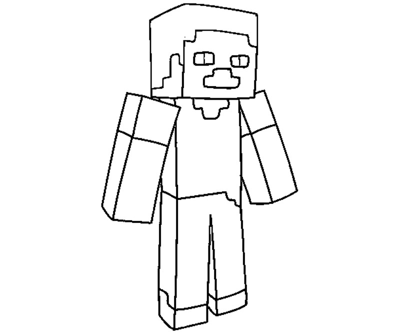 Minecraft Stampy Colouring Pages Coloring Kids SaveEnlarge