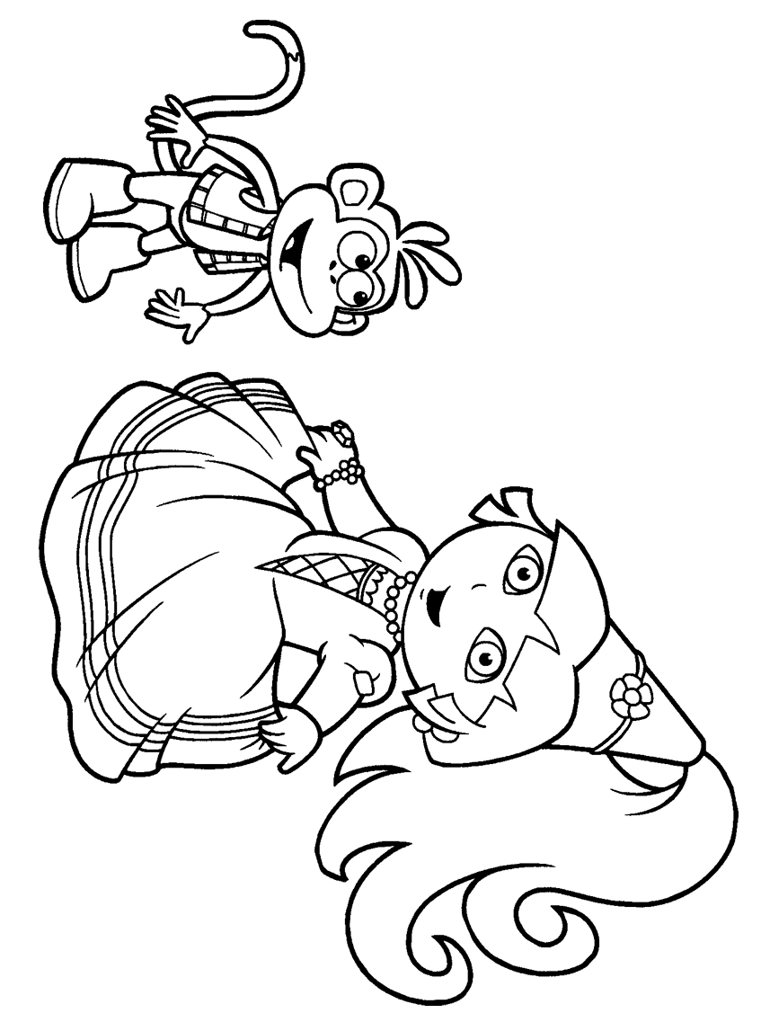 Nick jr princess coloring pages - Nick Jr Princess Coloring Pages 3