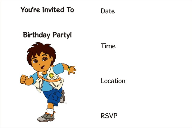 Free Printable Kids Birthday Invitations – Printable Boy Birthday Cards